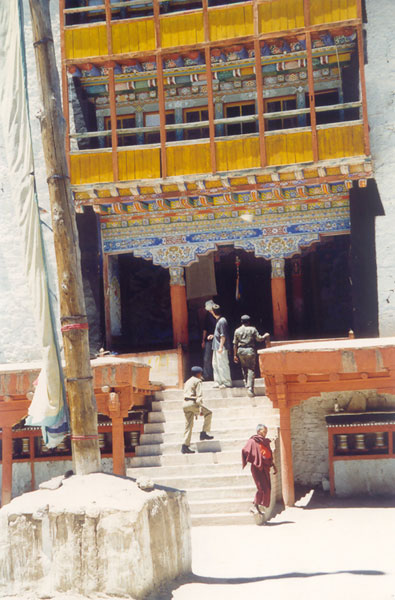 Entrance to a Budhist Gompa, Leh, Ladakh, India