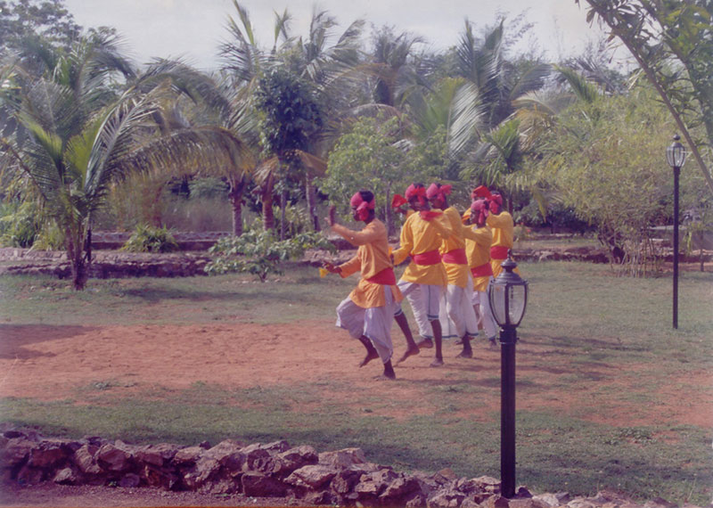 Folk dancers in Chennai, India